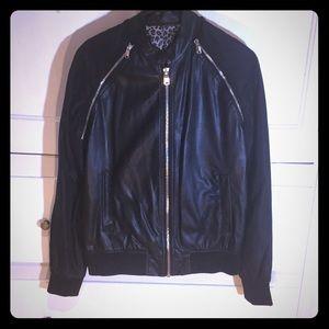 Zara man bomber faux leather jacket /vest